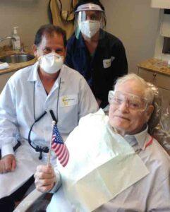 Veterans Smile Dentist Dr. DiSimoni, his dental assistant Eloisa