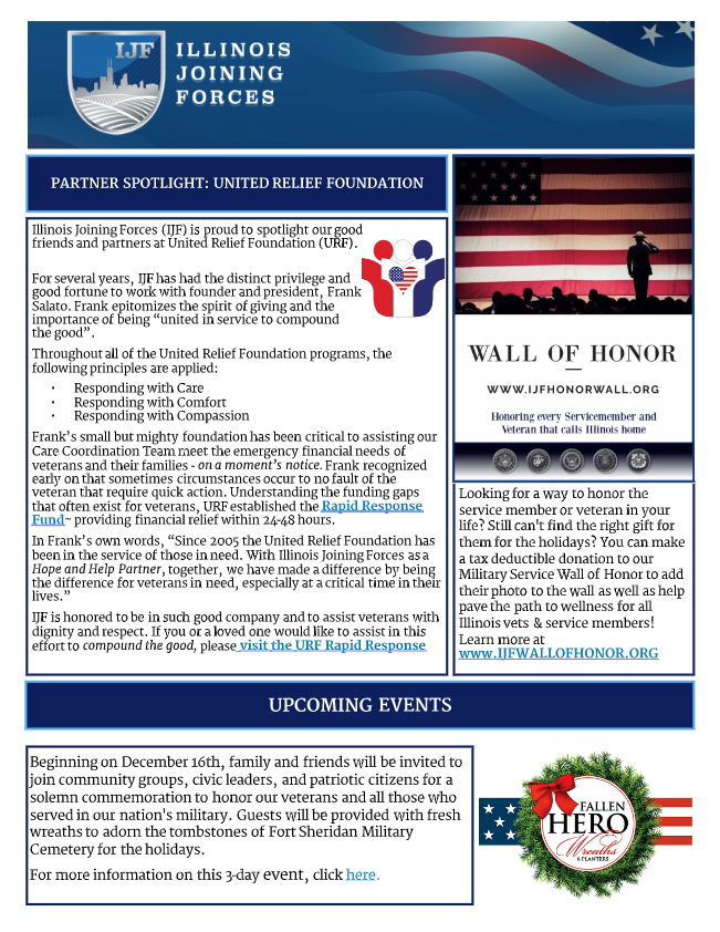 IJF newsletter spotlight United Relief Foundation