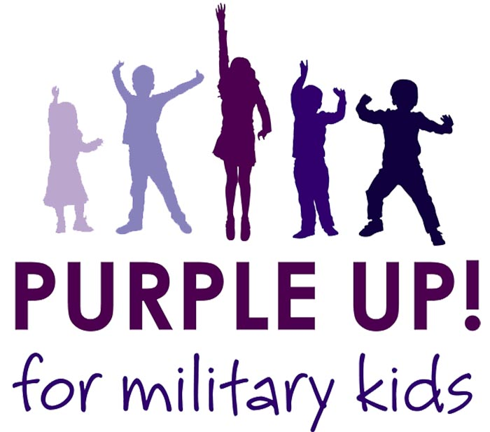 April 15 Purple Up Day for Military Kids