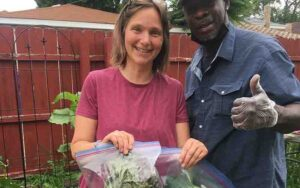 July 15 Konni's team visit and harvest at EBVH