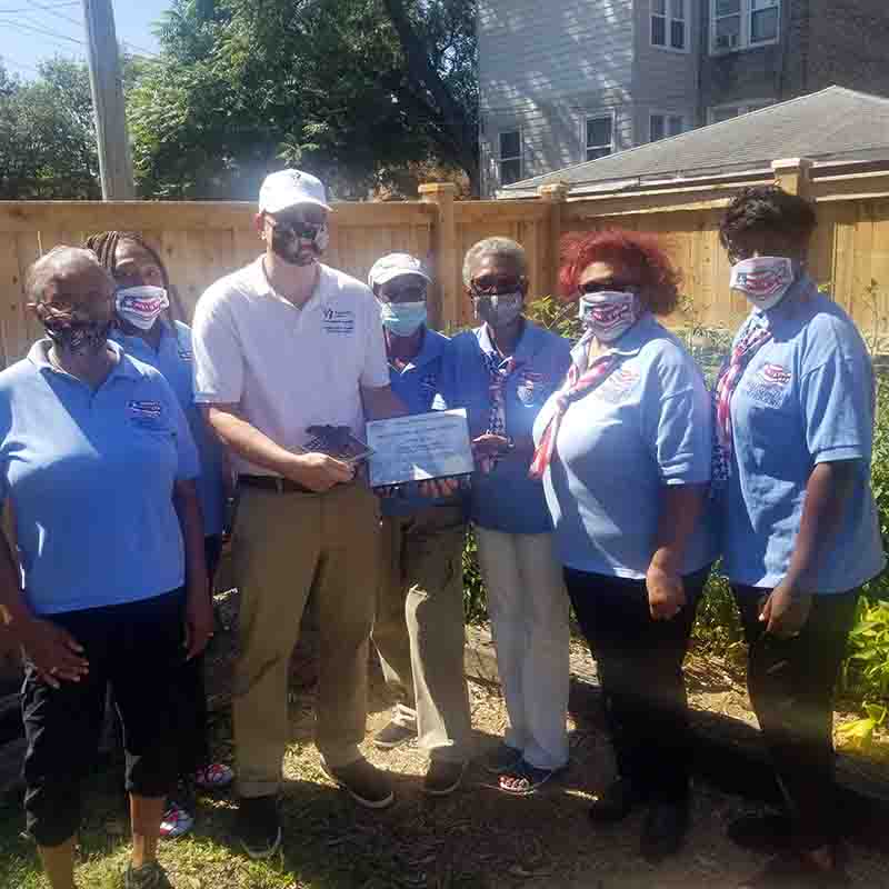 Frank Salato United Relief Foundation receives service recognition awards from Rochelle Crump NWVU