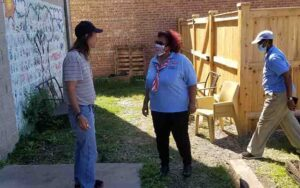 United Relief Foundation EBVH Project visit NWVU President Rochelle Crump engage with veteran